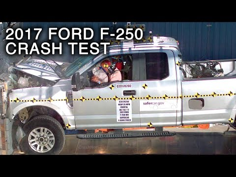 2017 Ford F-250 Super Duty SuperCab Frontal Crash Test
