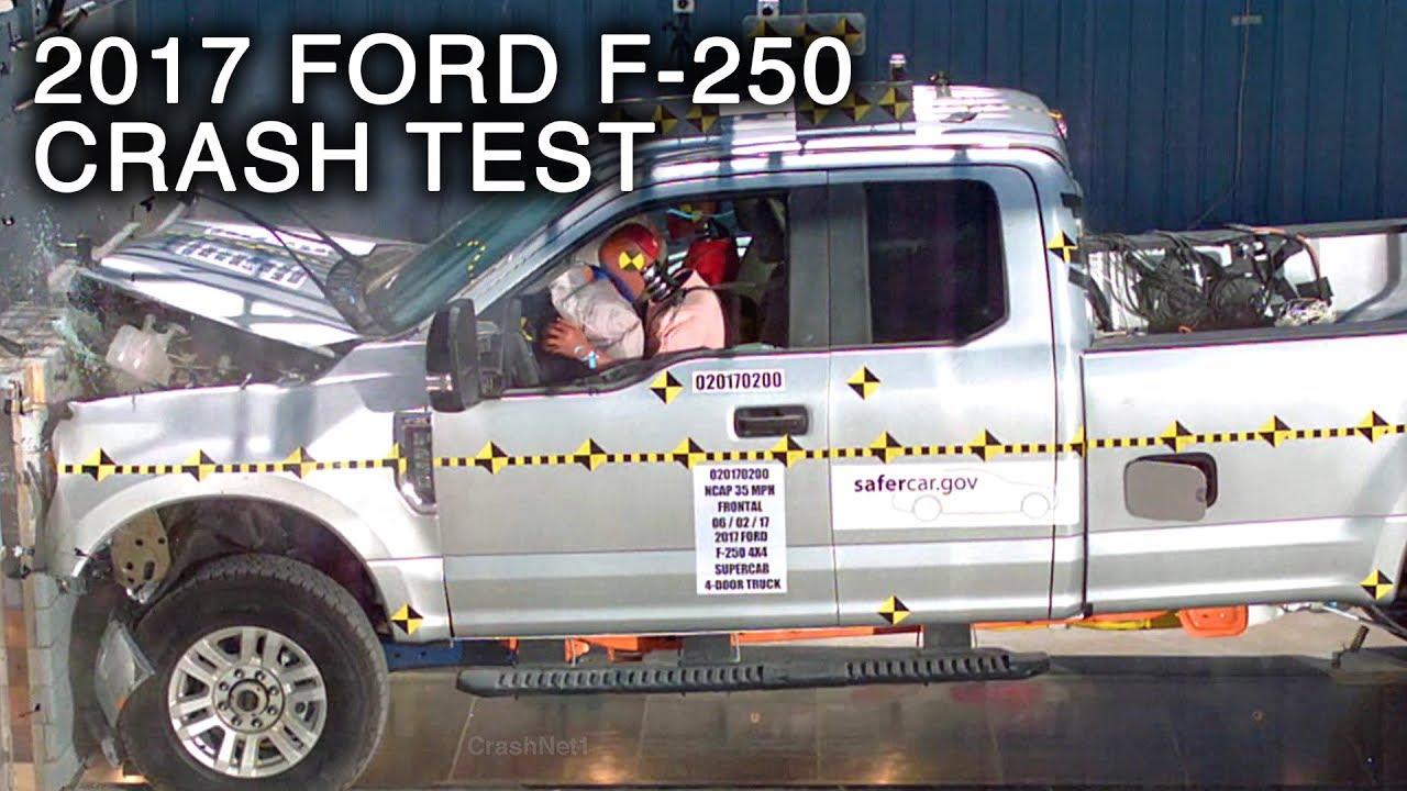 2017 ford f 250 super duty supercab frontal crash test. Black Bedroom Furniture Sets. Home Design Ideas