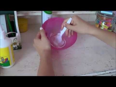 How to make slime! Without borax, eyedrops, liquid starch ...