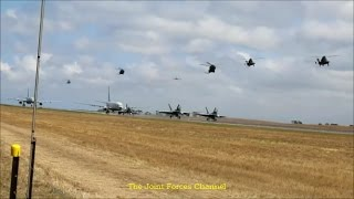 adf war games f 18s hawk 127 p 8 posiden c 17 c 130 kc 30 ap 3c e 7 wedgetail etc in action