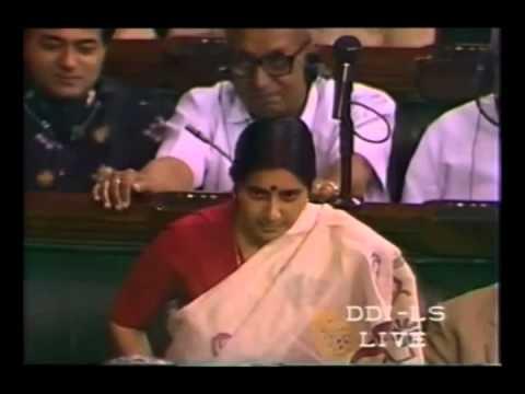 Sushma Swaraj on Confidence Motion of I.K.Gujral _ 22.04 Part 1