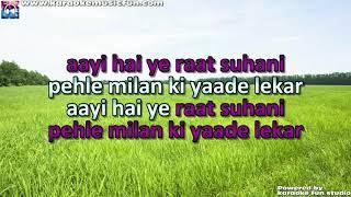 Ruk Ja Raat Thehar Ja Re Chanda Lata Mangeshkar Video Karaoke With Lyrics