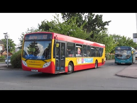 Buses at Lichfield Bus Station Summer 2017