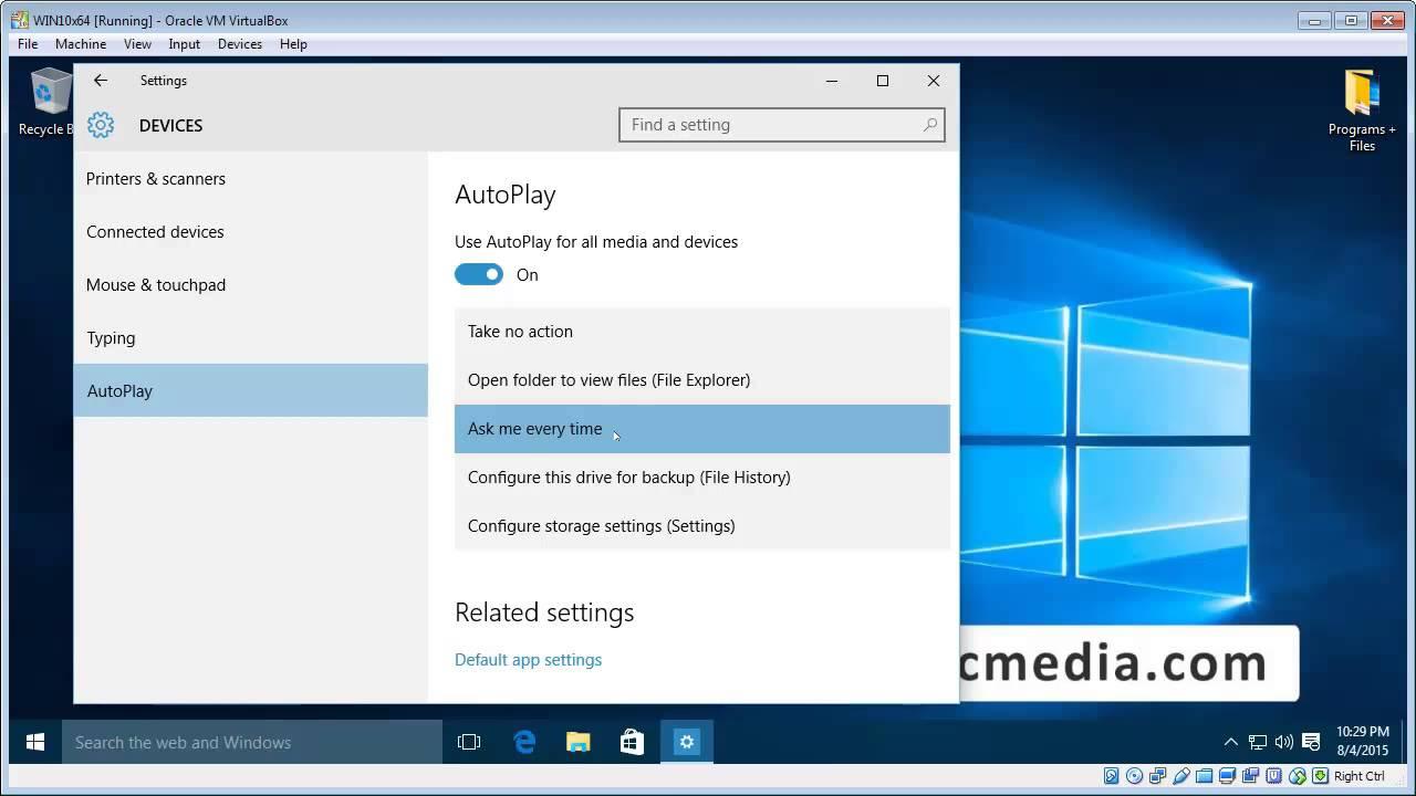 Setup Autoplay On Windows 10