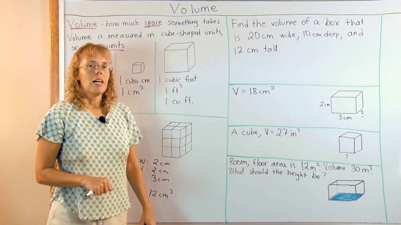 Volume of a rectangular prism and cubic units youtube ccuart Gallery