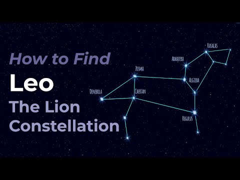 Leo the Lion - How to find the constellation, bright stars and celestial objects