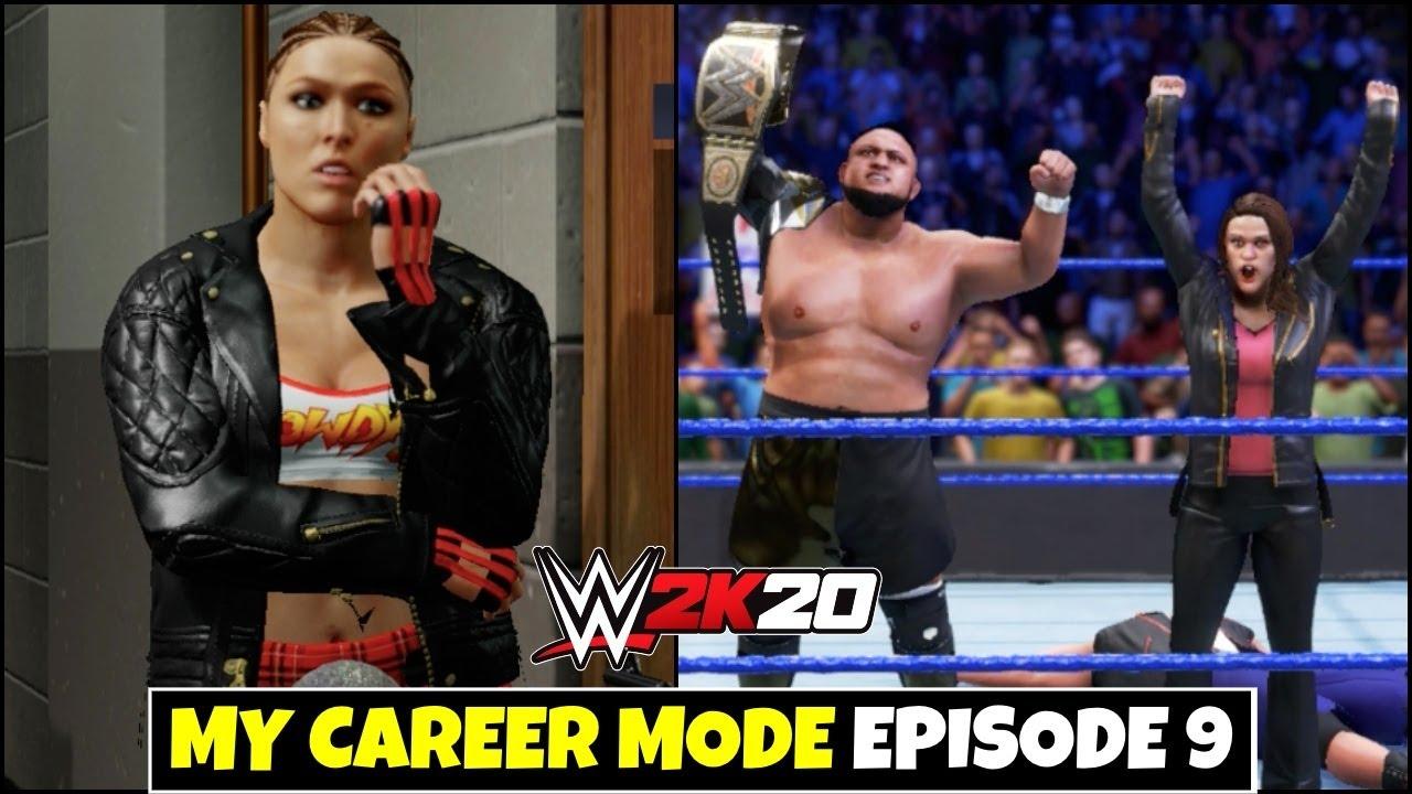 WWE 2K20 My Career Mode Ep 9 ! RONDA ROUSEY TAG PARTNER , SAMOA JOE WWE CHAMPION ! Episode 9