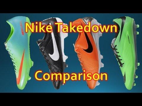 Nike Takedown Model Comparison - Phatal vs Veloce vs Legacy vs Trequartista 3