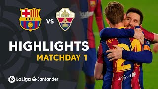 Highlights FC Barcelona vs Elche CF  (3-0)