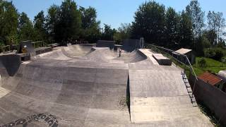 Travis Sexsmith Dropping In At Woodyard Bmx Park