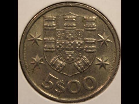A 5 Escudos coins of PORTUGAL collection