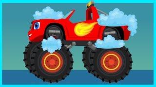 Автомойка - Вспыш и чудо-машинки - Мультик для мальчиков - Монстр-Траки