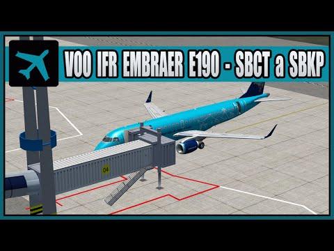 Voo IFR Embraer E190 - SBCT a SBKP (Curitiba a Campinas)