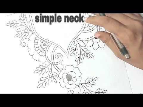 Neck Design Drawing For Hand Embroidery How To Draw An Easy Neckline Design For Dress Youtube,Price List Latest Bridal Lehenga Designs 2020 With Price