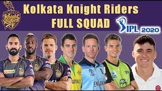 KKR Full Squad IPL 2020 | KKR Final Squad | Kolkata Knight Riders