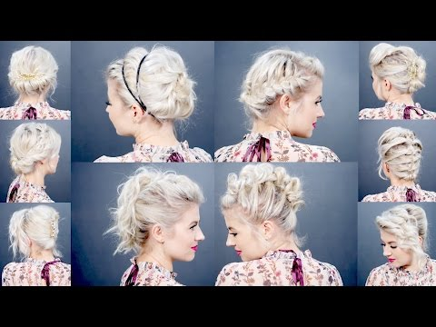10 EASY HOLIDAY UPDOS FOR SHORT HAIR | Milabu