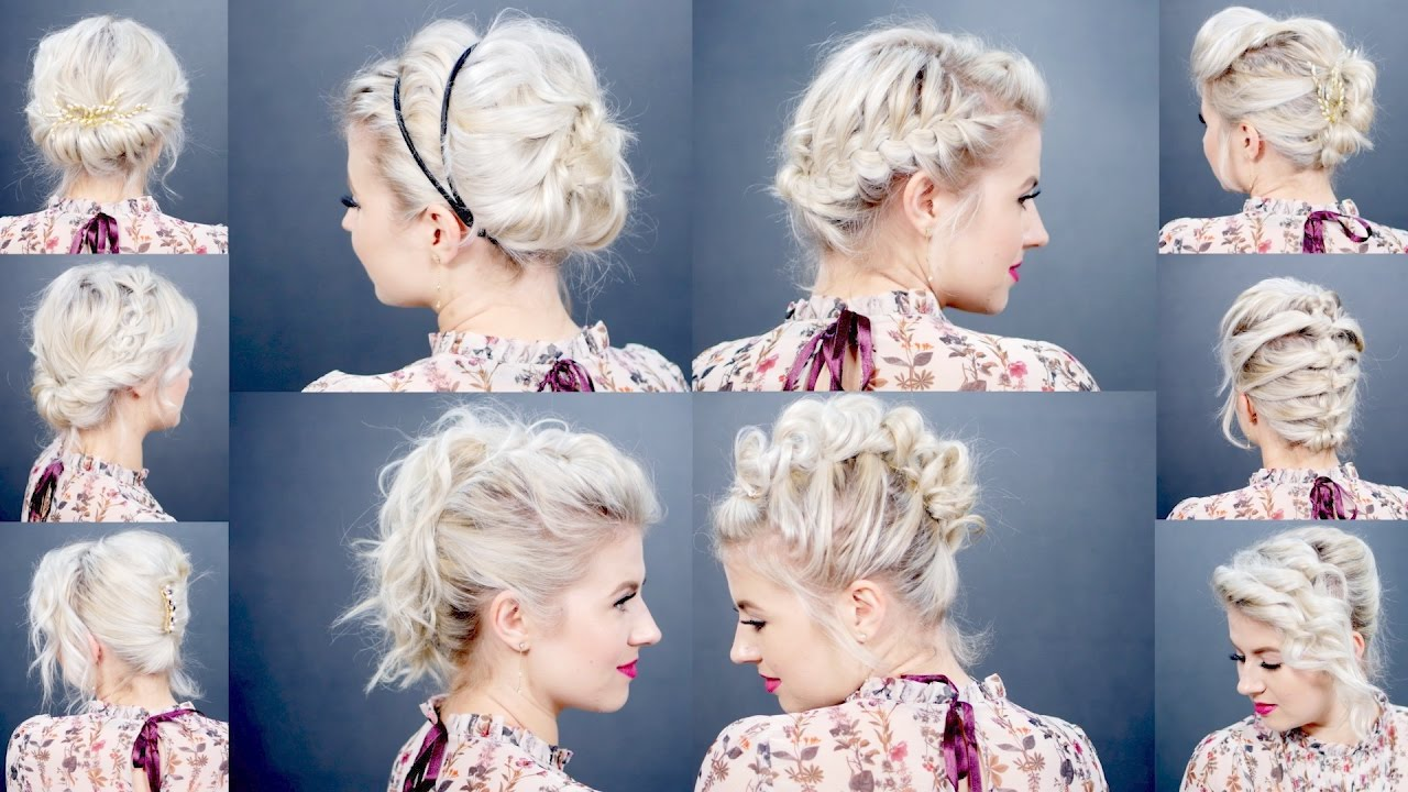 short hair tutorial: elegant updo for wedding / prom / grad