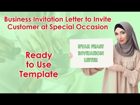 Business Invitation Letter Inviting Customer At Special Events - Iftar Party