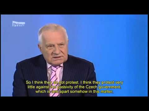 Interview with the former Czech President Vaclav Klaus with English subtitles