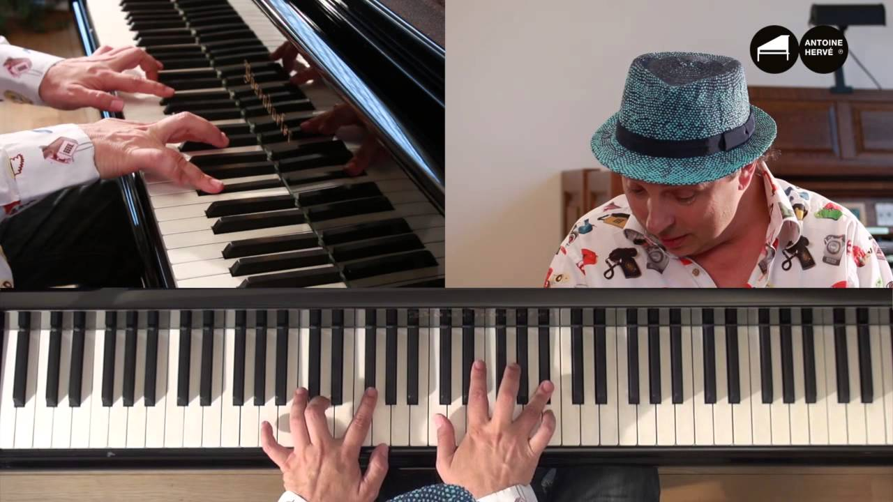 exercice d 39 accords jazz la le on de piano d 39 antoine herv youtube. Black Bedroom Furniture Sets. Home Design Ideas