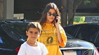 Kourtney Kardashian Shows Her Appreciation For Southern Hip-Hop With Mason In Calabasas