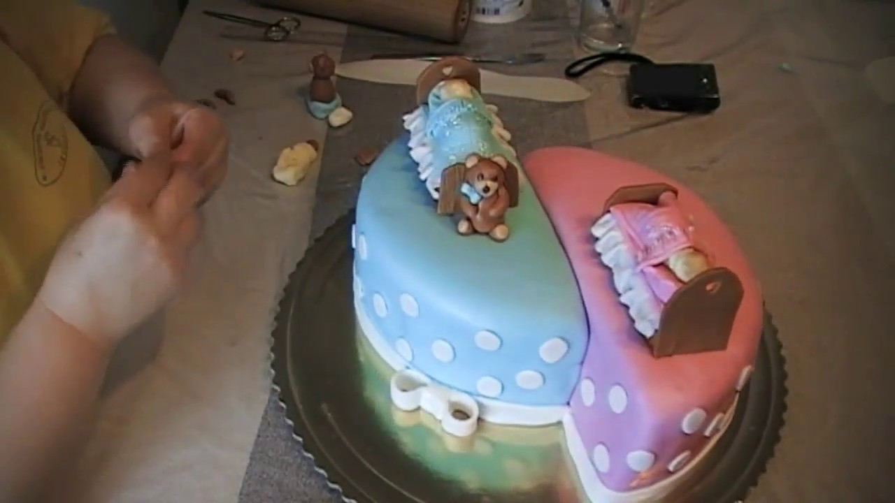 Babies Birthday Cake Cake For Twins Youtube