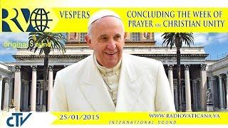 Week of Prayer for Christian Unity - 2015.01.25