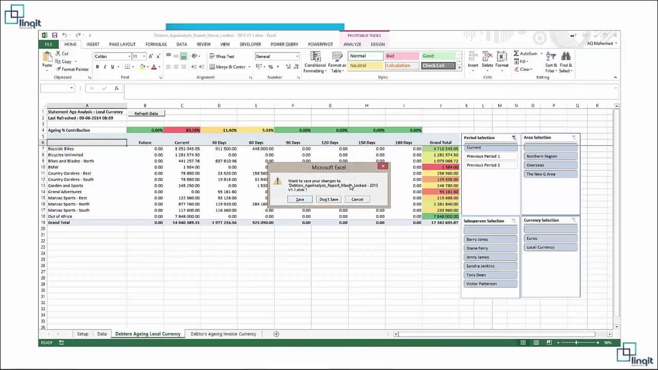 debtors and creditor age analysis