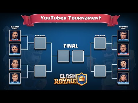 Clash Royale - TOURNAMENT GAMEPLAY!!! (youtuber vs. youtuber)