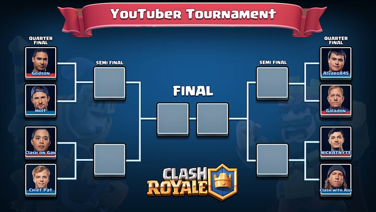 Clash Royale - TOURNAMENT GAMEPLAY!!! (youtuber vs. youtuber ...