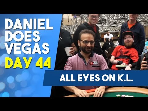 All Eyes on K L  as he drives towards the MONEY !- WSOP VLOG DAY 44