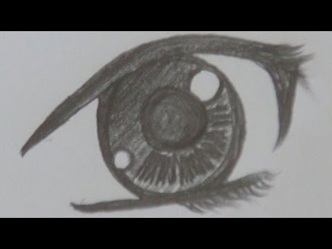 A Way Of Drawing Anime Pretty Girl S Eye Pencil Drawing Youtube