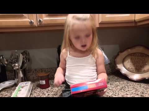 3 year old Josie explains Betty Crocker brownies