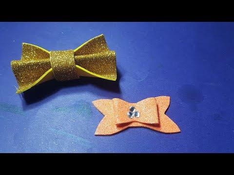 glitter foam sheet bow