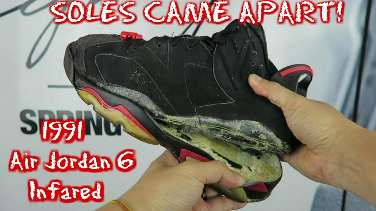 BAD SOLE SWAP! 1991 Air Jordan 6 Black
