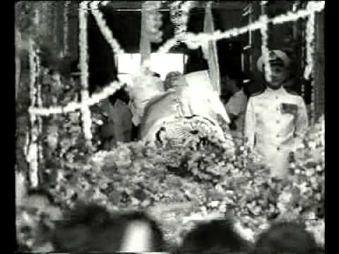 Netaji Subhas Chandra Bose At Nehru's Funeral On 28/05/1964