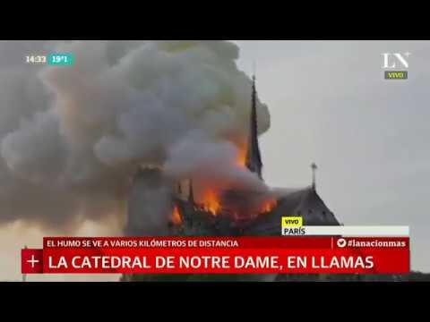 Se incendió la catedral de Notre Dame, imágenes de las llamas en París
