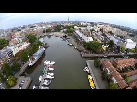 An aerial tour of the Bristol Floating Harbour.