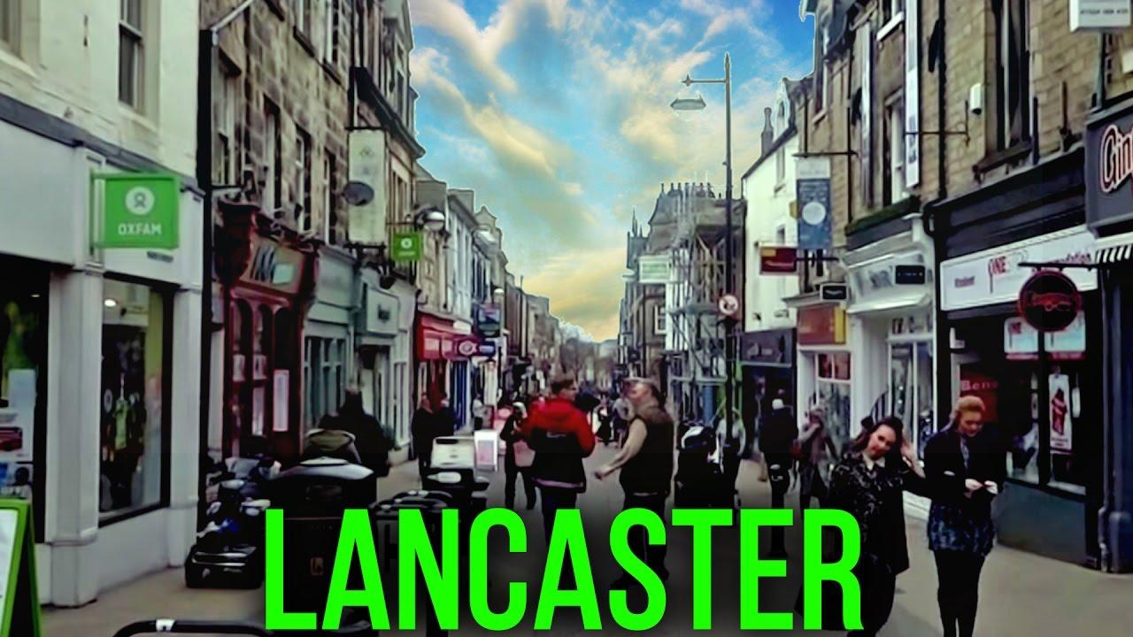 the uk today walking through lancaster lancashire city centre