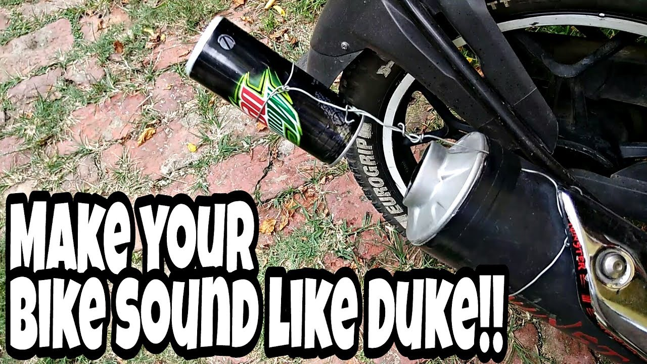 how to make your bike sound like a motorcycle