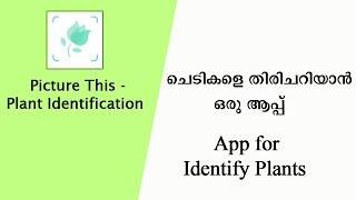 ചെടികളെ തിരിച്ചറിയാന് ഒരു ആപ്പ്   App for Identify Plants
