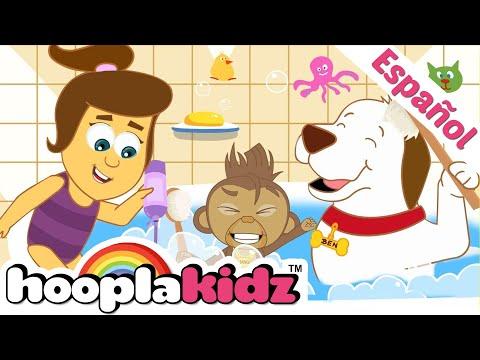 ¡En la Bañera con Annie, Ben y Mango! - Canciones Infantiles   HooplaKidz en Español