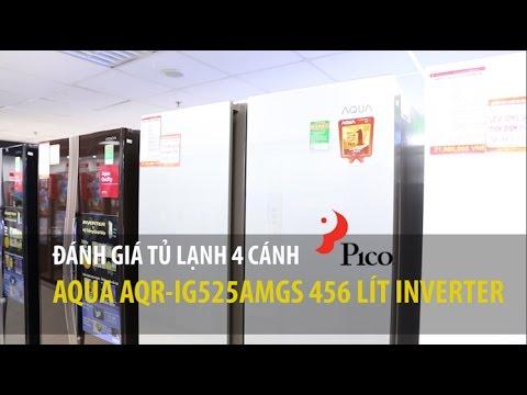 Tủ lạnh 4 cánh Aqua AQR-IG525AMGS 456 LÍT INVERTER