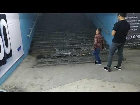 Град в Ташкенте, заливало метро. 05.июнь.2019