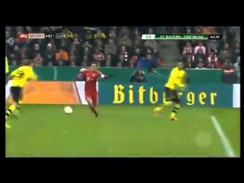 MUNCHEN vs DORTMUND - Arjen Robben 1:0 (42)