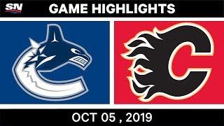 Nhl Highlights | Canucks Vs. Flames – Oct. 05, 2019