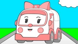 Super Simple English - раскраска из мультфильма Робокар Поли (Robocar Poli)
