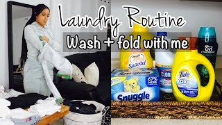 LAUNDRY ROUTINE | WASH & FOLD | ORGANIZE WITH ME | CLEAN WITH ME