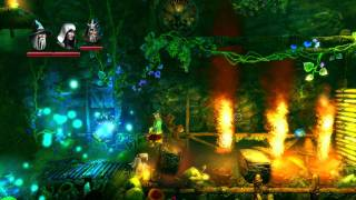 Trine 2 gameplay with 2 players.