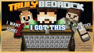 Truly Bedrock S1 EP03 : I got this.. Side Trades  [ Minecraft, MCPE, Bedrock Edition ]